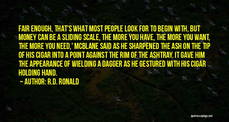 Money Tip Quotes By R.D. Ronald
