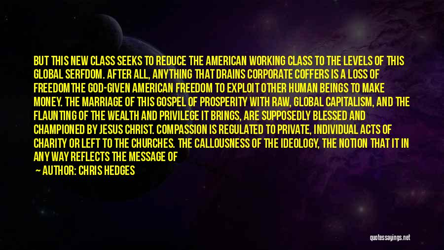 Money Vs Human Values Quotes By Chris Hedges