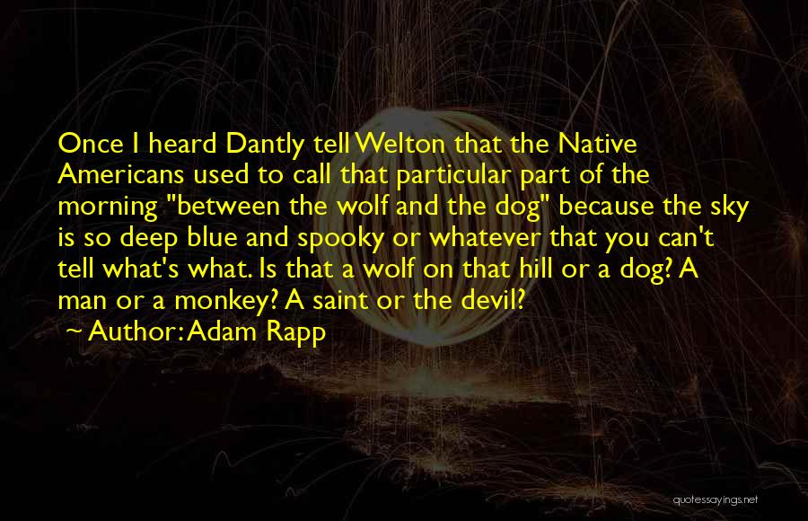 Monkey Man Quotes By Adam Rapp
