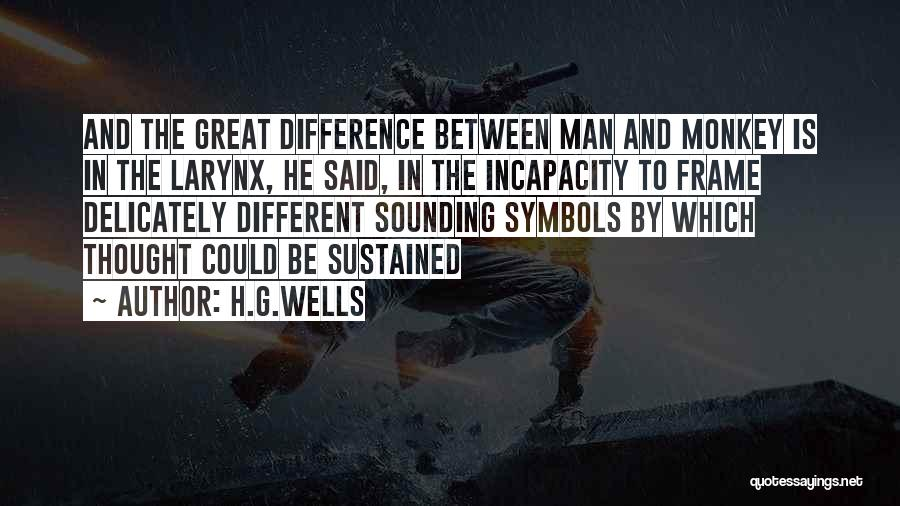 Monkey Man Quotes By H.G.Wells