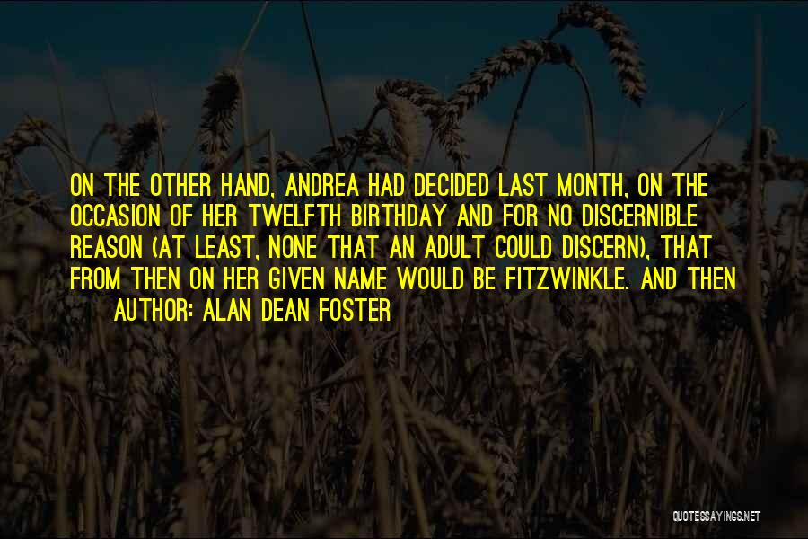 Month Of May Birthday Quotes By Alan Dean Foster