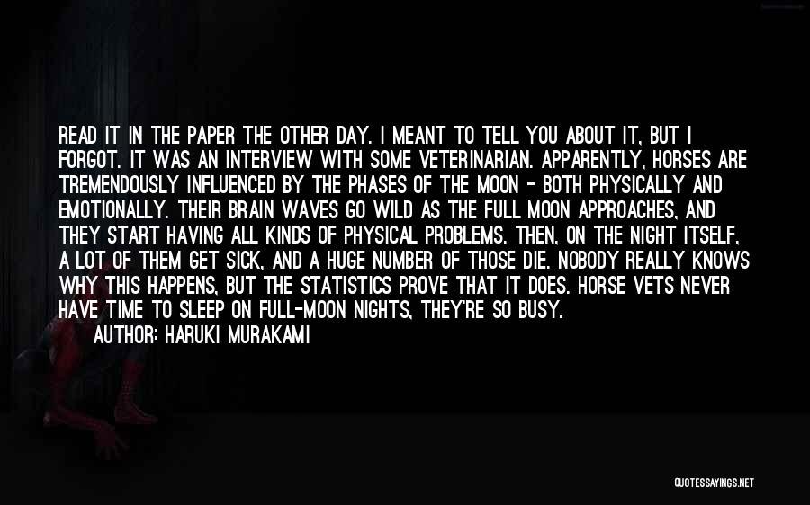 Moon Phases Quotes By Haruki Murakami