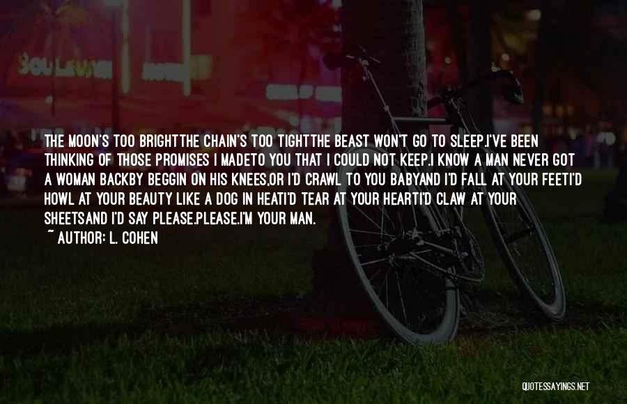 Moon's Beauty Quotes By L. Cohen