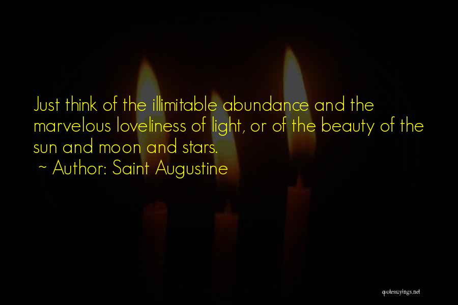 Moon's Beauty Quotes By Saint Augustine