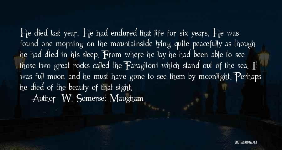Moon's Beauty Quotes By W. Somerset Maugham