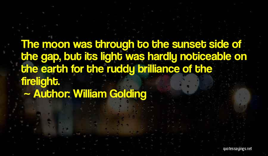 Moon's Beauty Quotes By William Golding