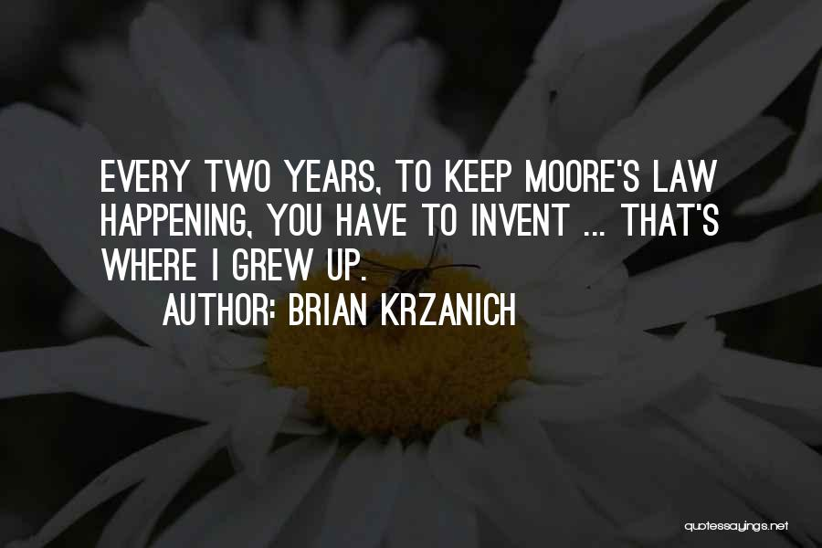 Moore's Law Quotes By Brian Krzanich