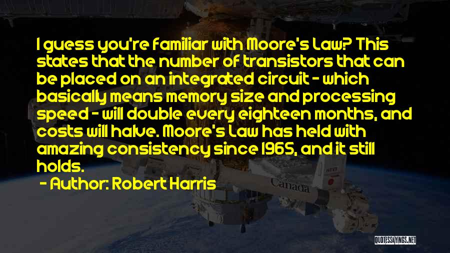Moore's Law Quotes By Robert Harris
