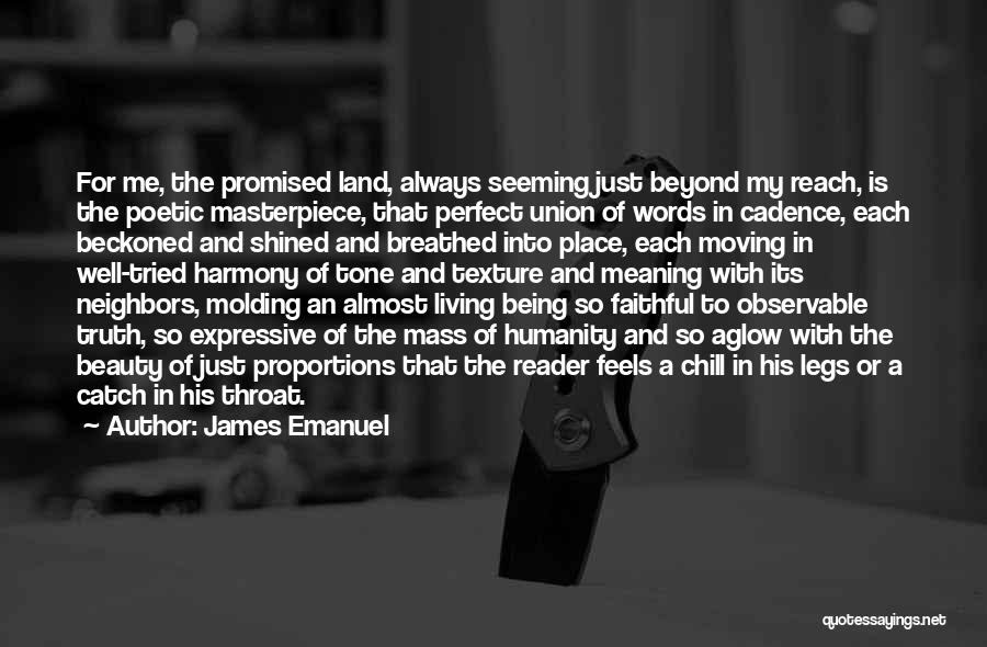More Perfect Union Quotes By James Emanuel