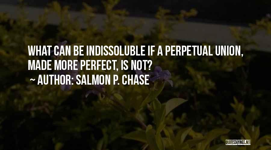 More Perfect Union Quotes By Salmon P. Chase