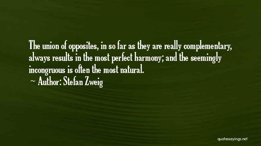 More Perfect Union Quotes By Stefan Zweig
