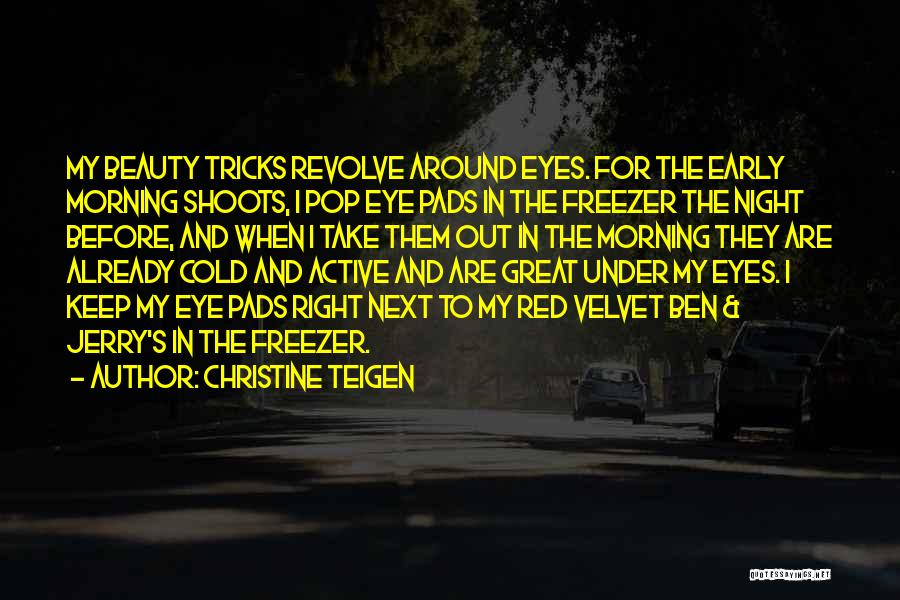 Morning And Night Quotes By Christine Teigen