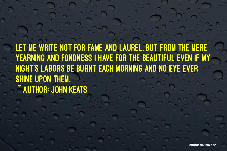 Morning And Night Quotes By John Keats