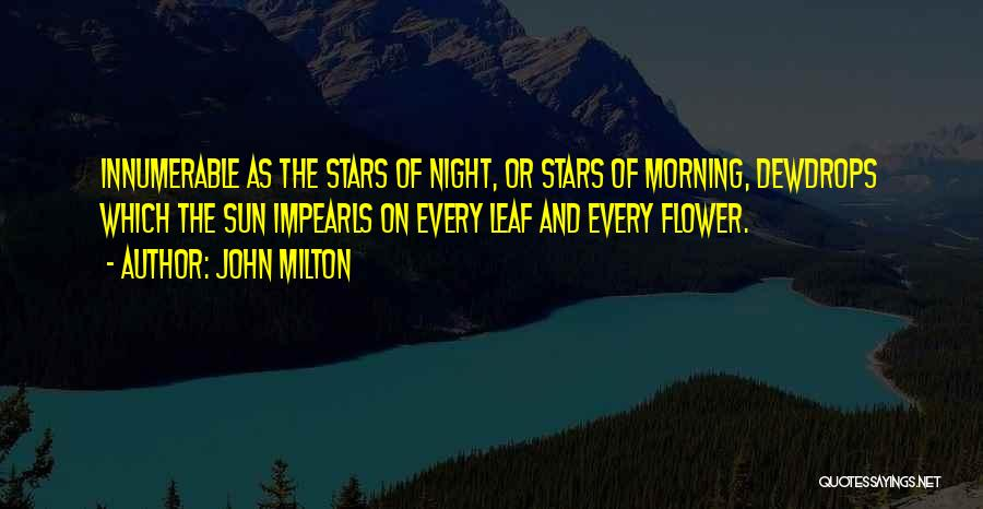 Morning And Night Quotes By John Milton