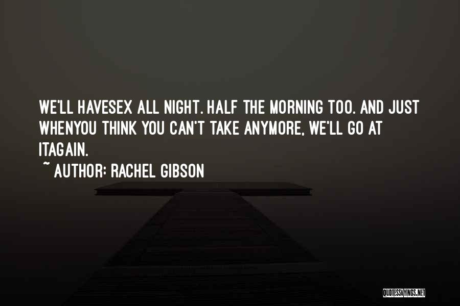 Morning And Night Quotes By Rachel Gibson
