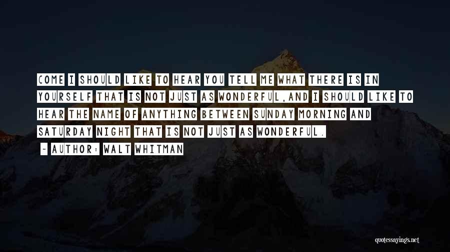 Morning And Night Quotes By Walt Whitman