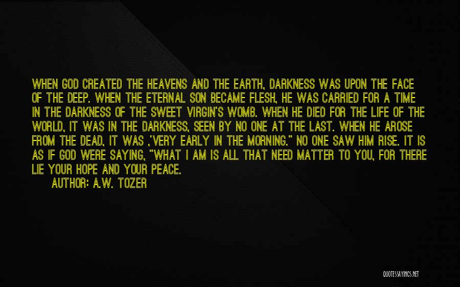 Morning For Him Quotes By A.W. Tozer