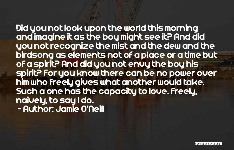 Morning For Him Quotes By Jamie O'Neill