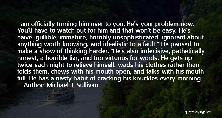 Morning For Him Quotes By Michael J. Sullivan
