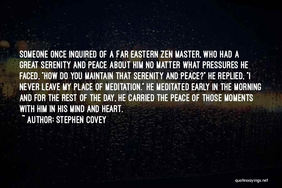 Morning For Him Quotes By Stephen Covey