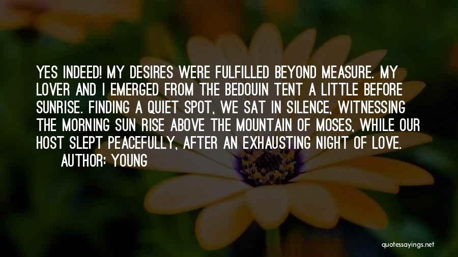 Morning Sun Love Quotes By Young