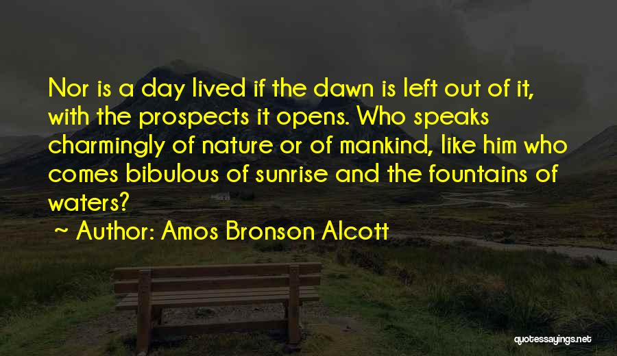 Morning With Nature Quotes By Amos Bronson Alcott
