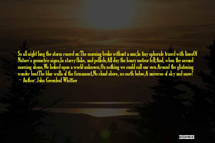 Morning With Nature Quotes By John Greenleaf Whittier