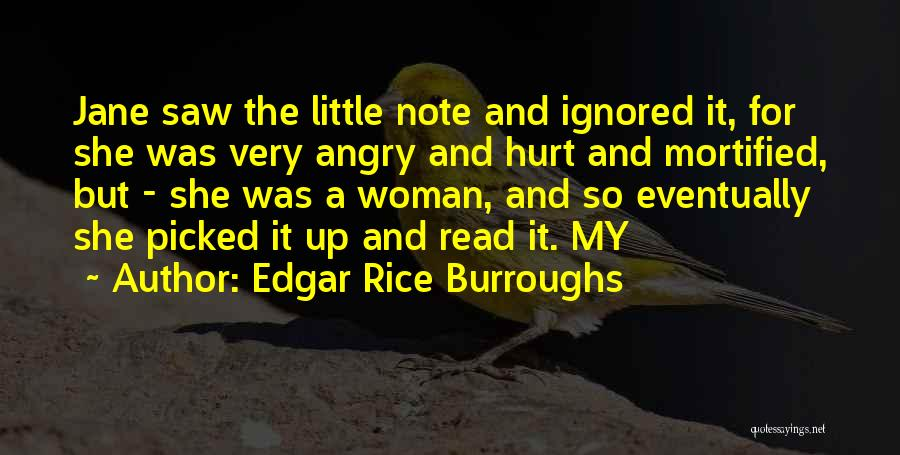 Mortified Quotes By Edgar Rice Burroughs
