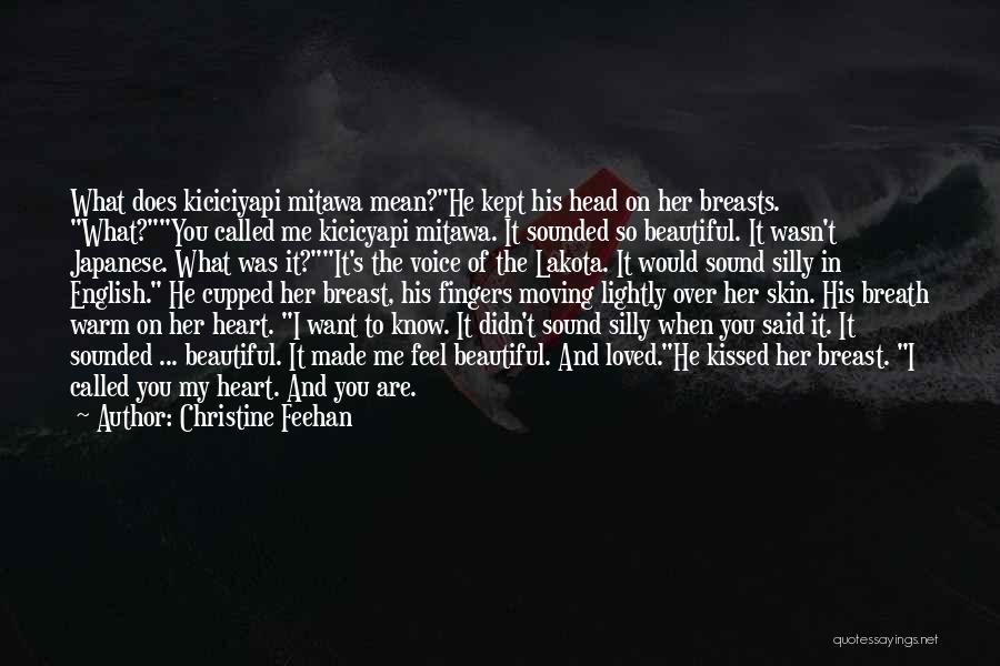 Most Beautiful English Quotes By Christine Feehan