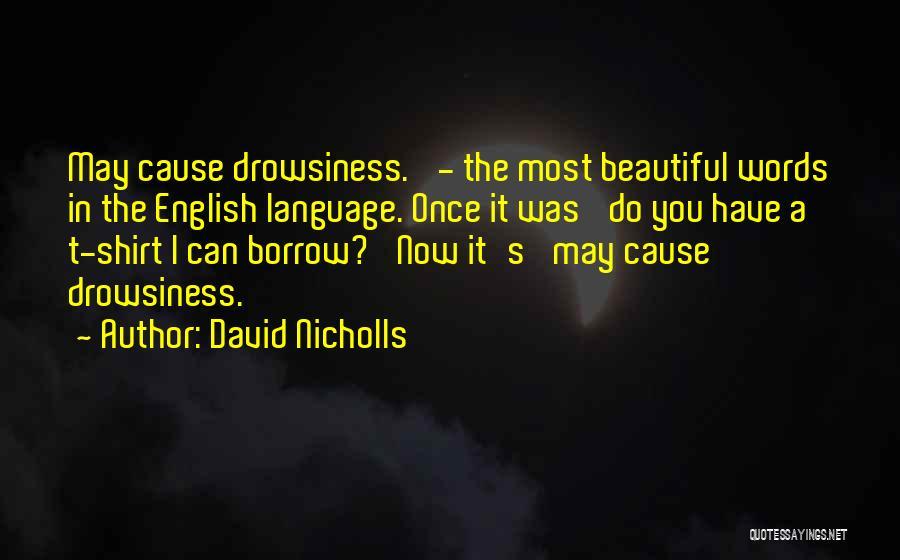 Most Beautiful English Quotes By David Nicholls