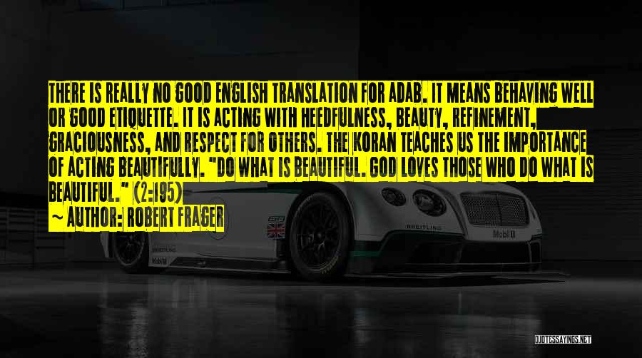Most Beautiful English Quotes By Robert Frager