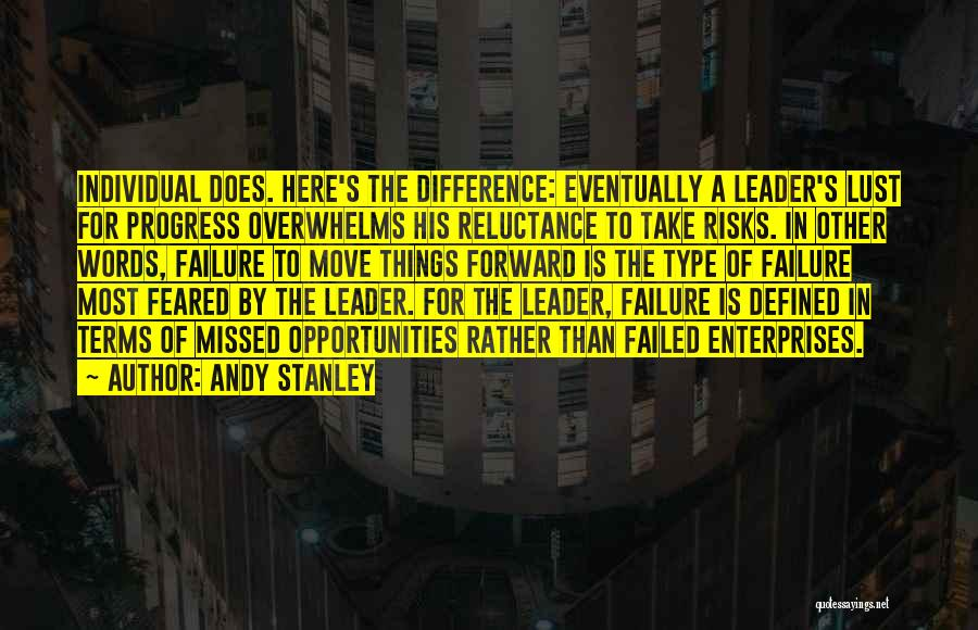 Most Feared Quotes By Andy Stanley