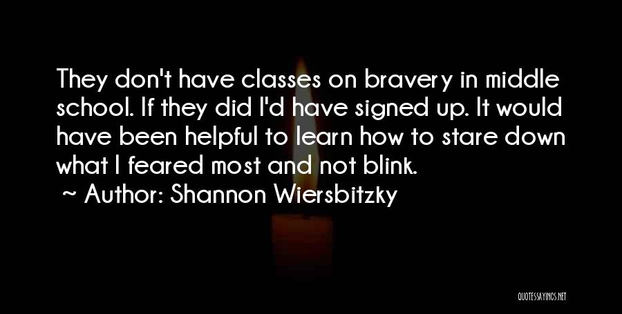 Most Feared Quotes By Shannon Wiersbitzky