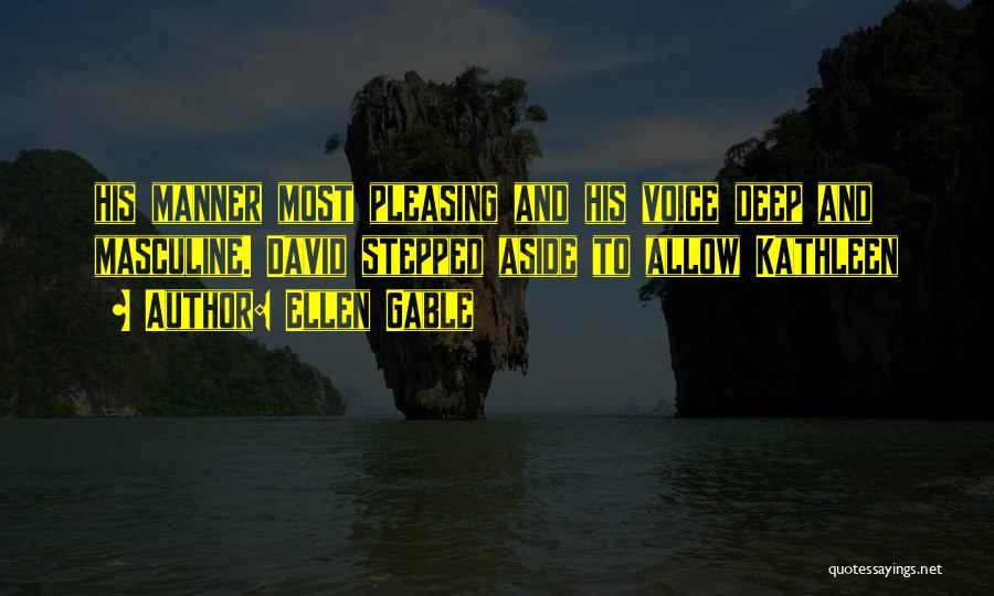 Most Masculine Quotes By Ellen Gable