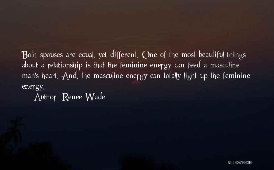 Most Masculine Quotes By Renee Wade