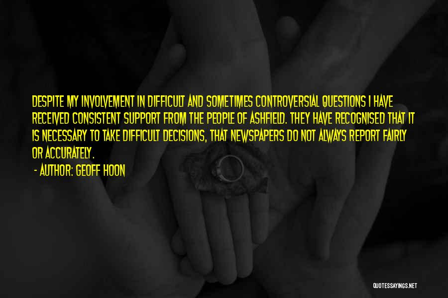Most Recognised Quotes By Geoff Hoon