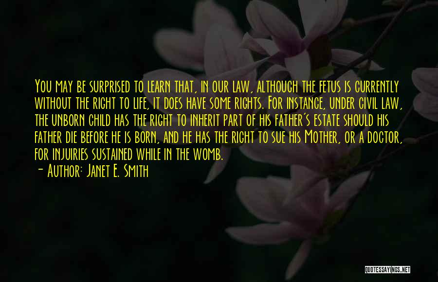 Mother And Fetus Quotes By Janet E. Smith