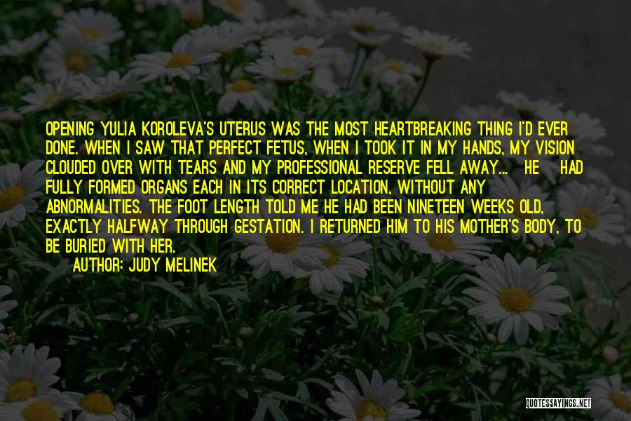 Mother And Fetus Quotes By Judy Melinek