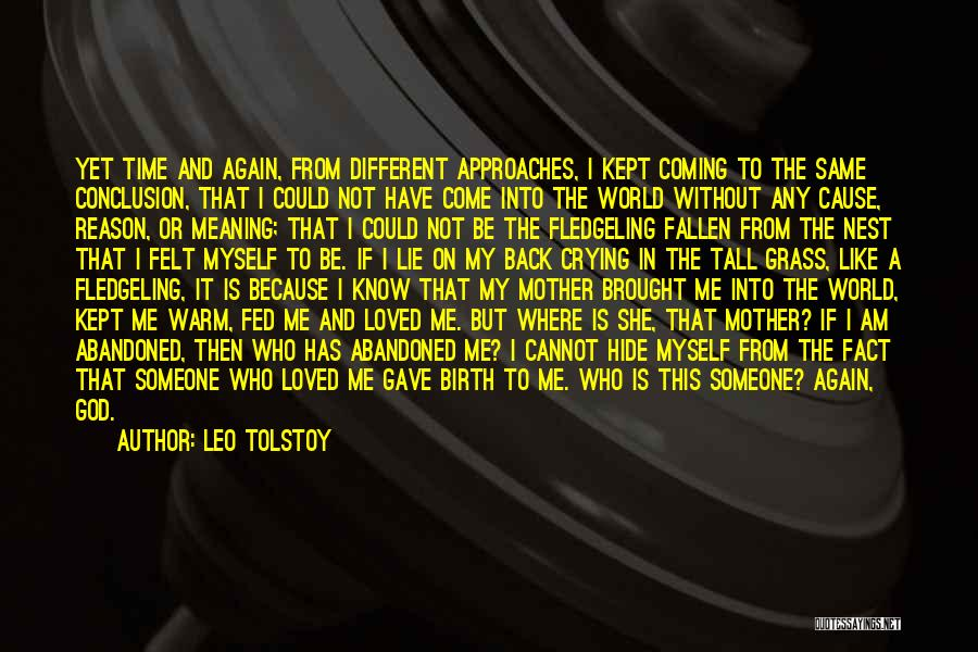 Mother Birth Quotes By Leo Tolstoy