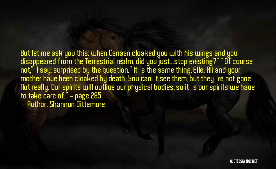 Mother Care Quotes By Shannon Dittemore