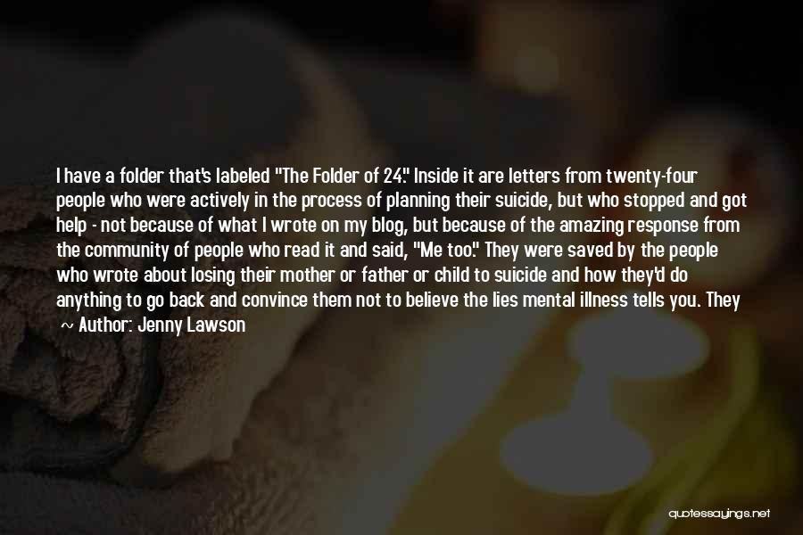 Mother Losing Her Child Quotes By Jenny Lawson