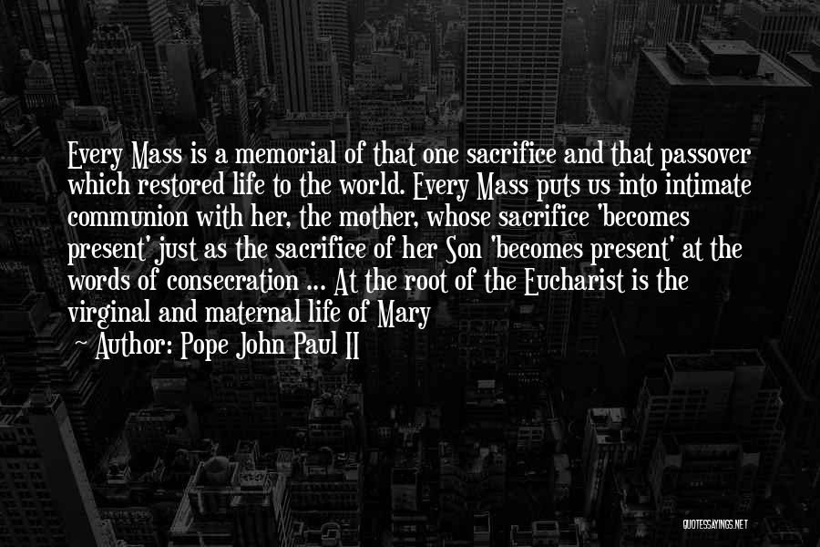 Mother Mary Quotes By Pope John Paul II