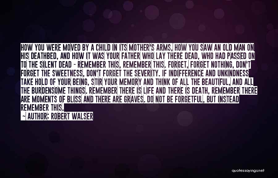 Mother Passed Quotes By Robert Walser