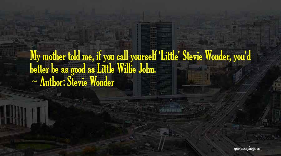 Mother Told Me Quotes By Stevie Wonder