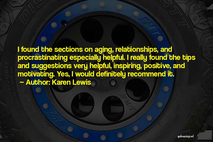Motivating Yourself Quotes By Karen Lewis