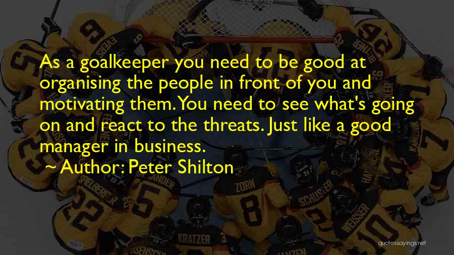Motivating Yourself Quotes By Peter Shilton