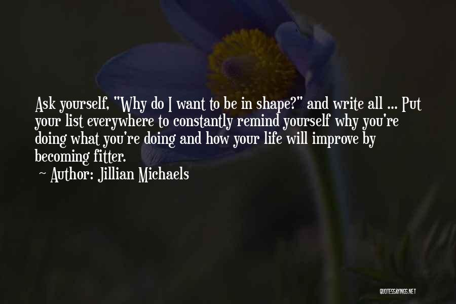 Motivational Get In Shape Quotes By Jillian Michaels
