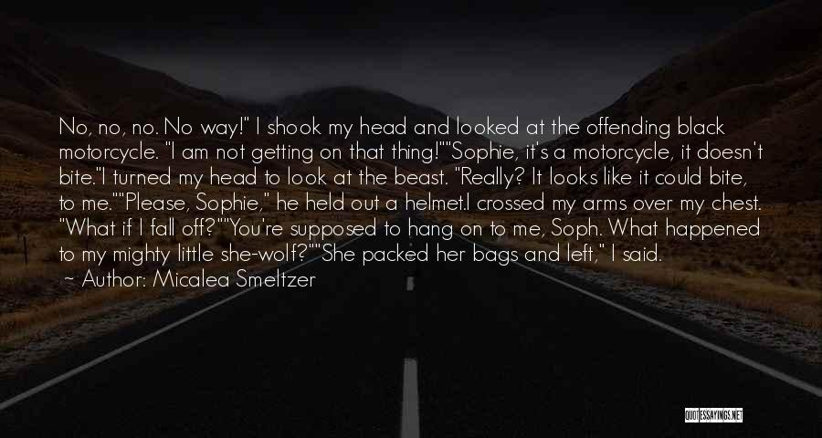 Motorcycle Helmet Quotes By Micalea Smeltzer