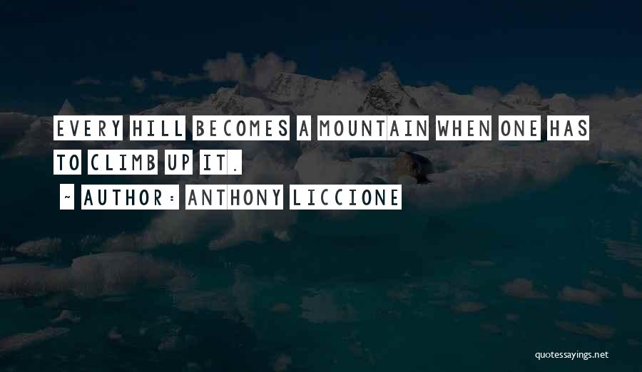 Mountain Climb Quotes By Anthony Liccione
