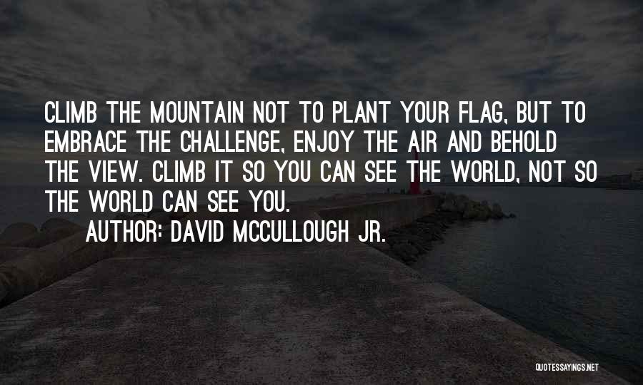 Mountain Climb Quotes By David McCullough Jr.